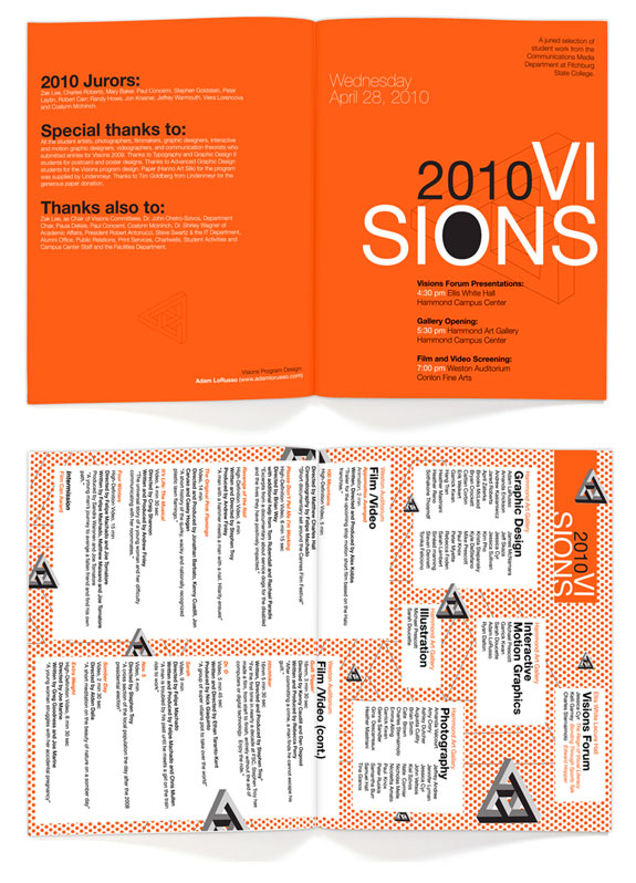 Fitchburg State College Presents Visions 2010 brochure